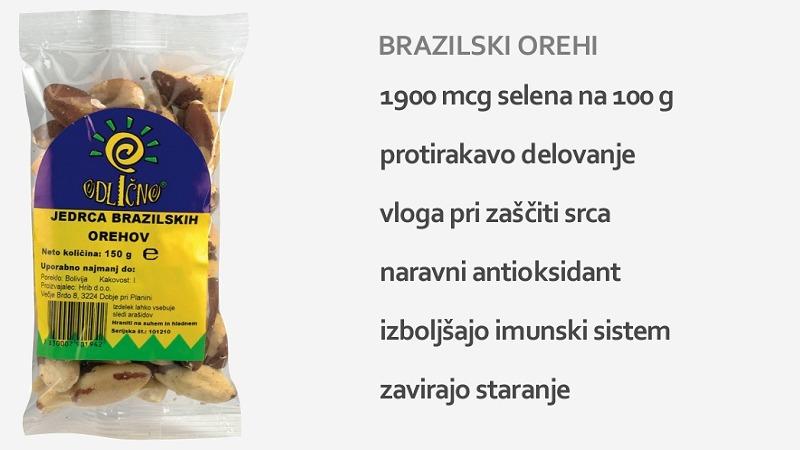 jedrca brazilskih orehov